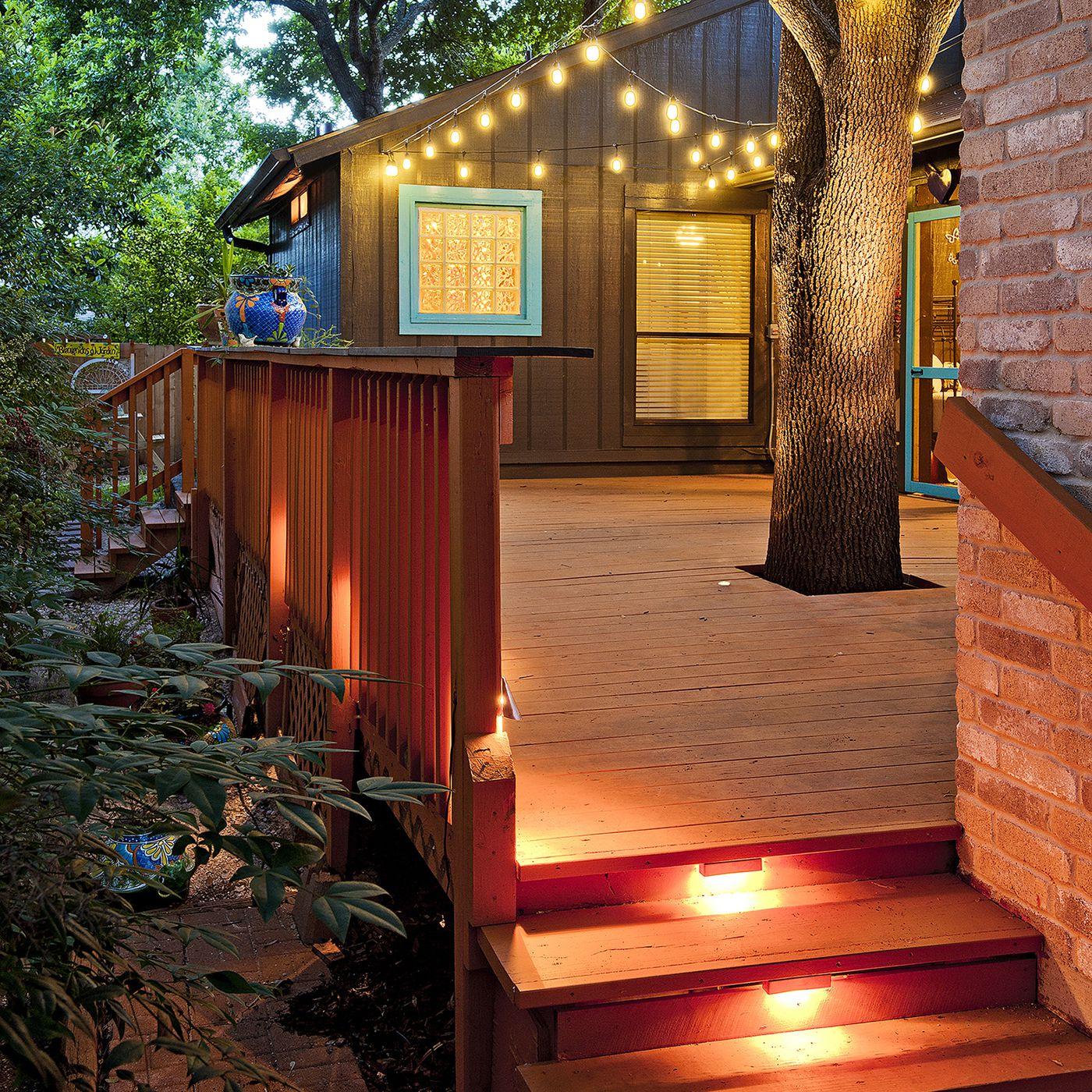 mood lighting to your deck