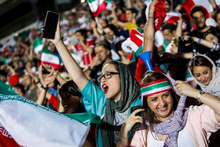 Image result for iran women fans soccer