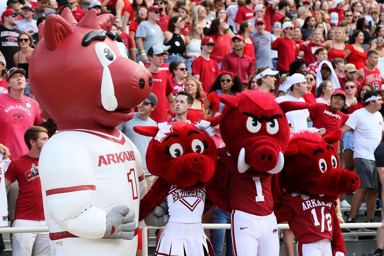 NCAA Football: Georgia Southern at Arkansas