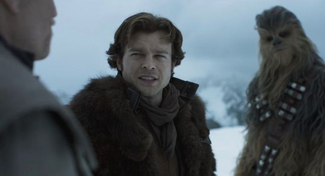 Alden Ehrenreich does his best Harrison Ford impression in Solo: A Star Wars Story
