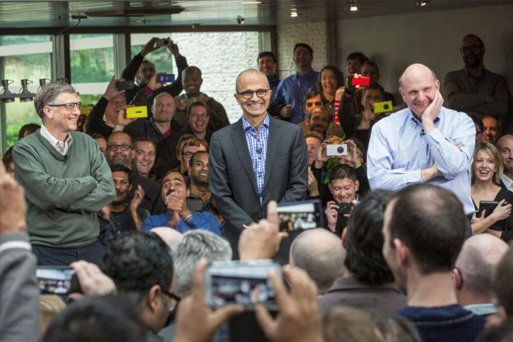 Watch this: Microsoft's three CEOs on stage together - The ...