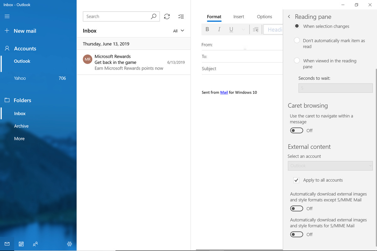 Disable image autoloading in Microsoft Mail: