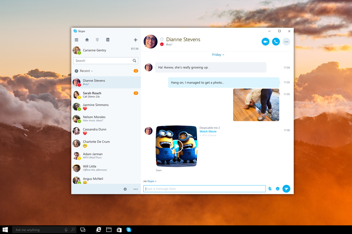 Microsoft To Release Universal Skype App For Windows 10 The Verge