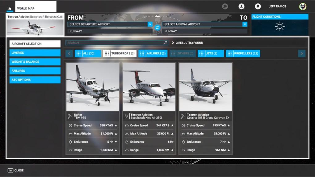 Turboprops trong Microsoft Flight Simulator
