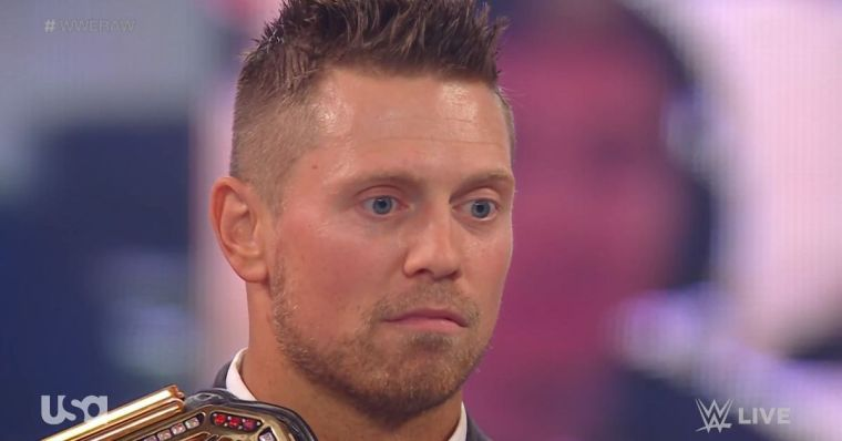 Lashley stopped Miz's run at the top before it started
