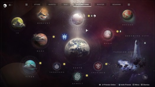 The current Destiny 2 Director pre-Beyond Light