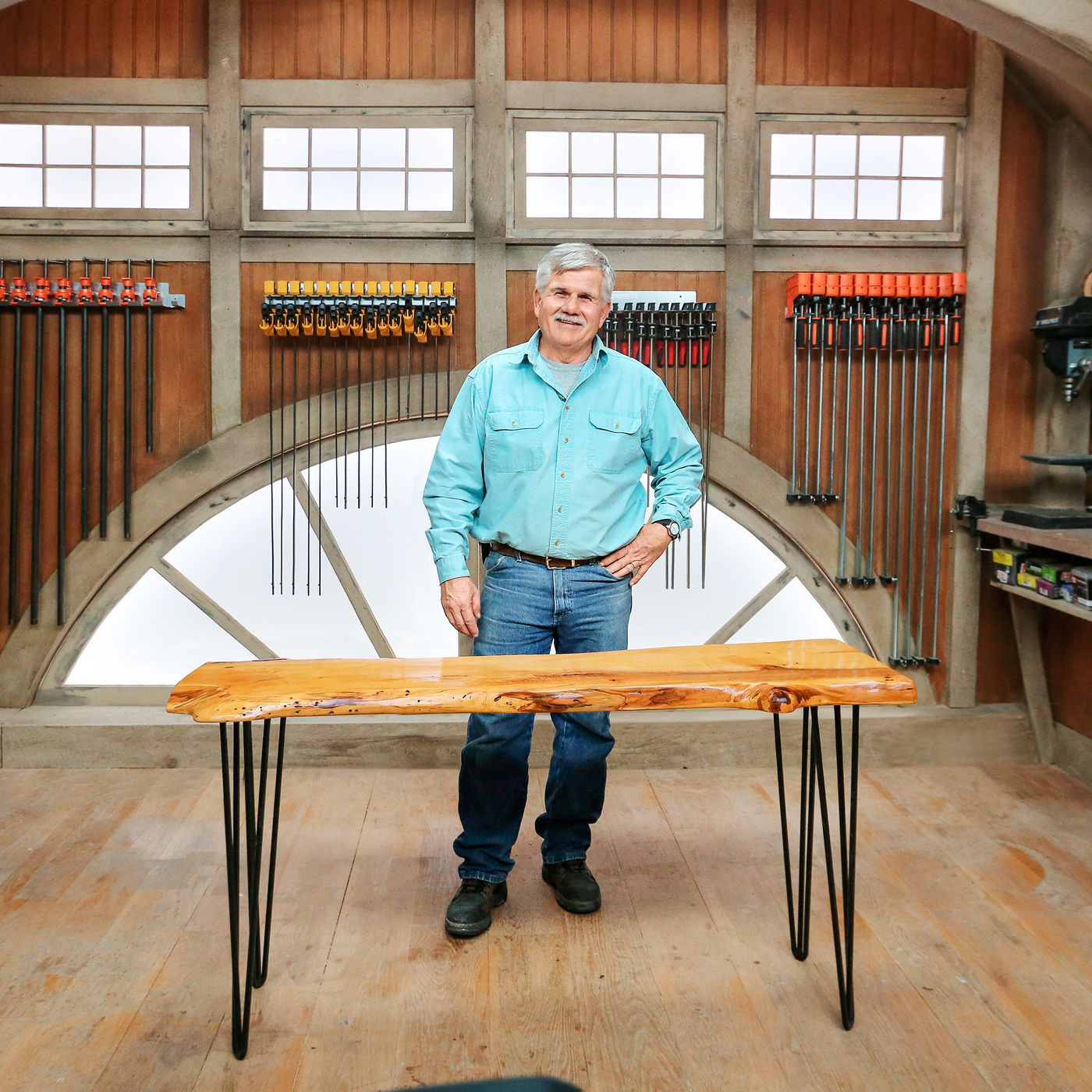 how to turn a wood slab into a table