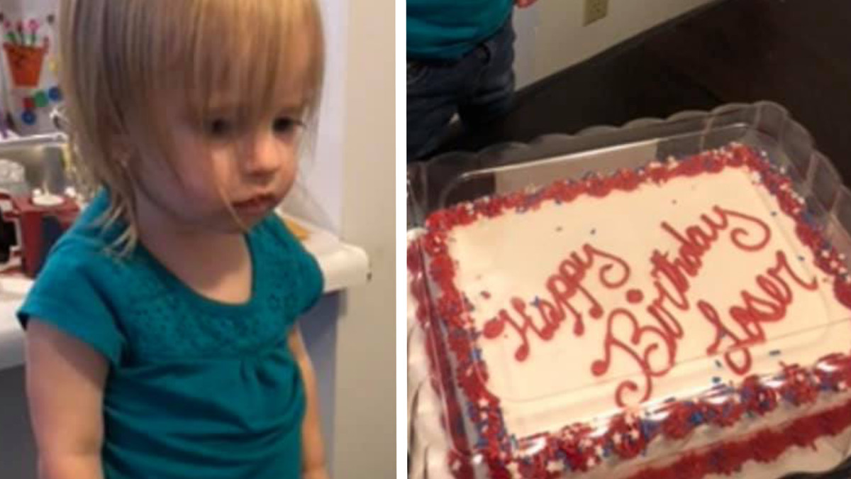 A Two Year Old S Cake Said Happy Birthday Loser By Accident Enjoy Funny Or Die