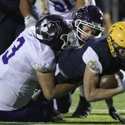 Box Elder plays Bonneville in a varsity football game at Bonneville High School in Washington Terrace on Friday, Oct. 9, 2020. Bonneville won 42-14.