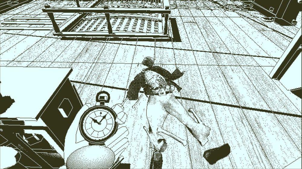 Retour de l'Obra Dinn - regardant un cadavre sur le pont