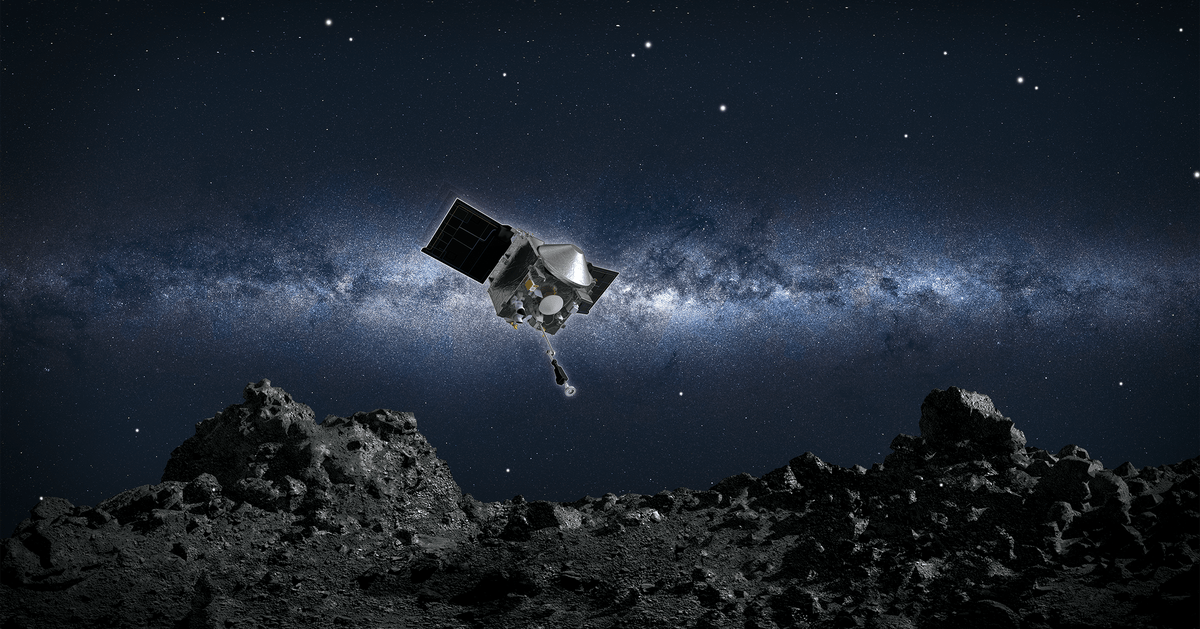 Watch as NASA's OSIRIS-REx mission attempts to grab a sample from an asteroid
