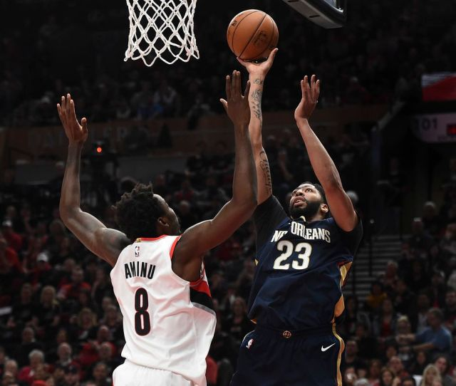 Pelicans Vs Trail Blazers Anthony Davis New Orleans Steal Game