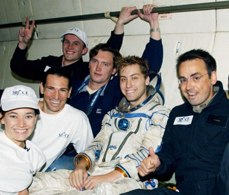 Lance Bass Training For Space Flight