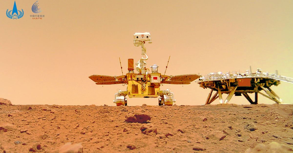 China's Zhurong rover sends a selfie from Mars