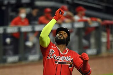 Marcell Ozuna's three homer night caps Braves rout of the Red Sox - Talking  Chop