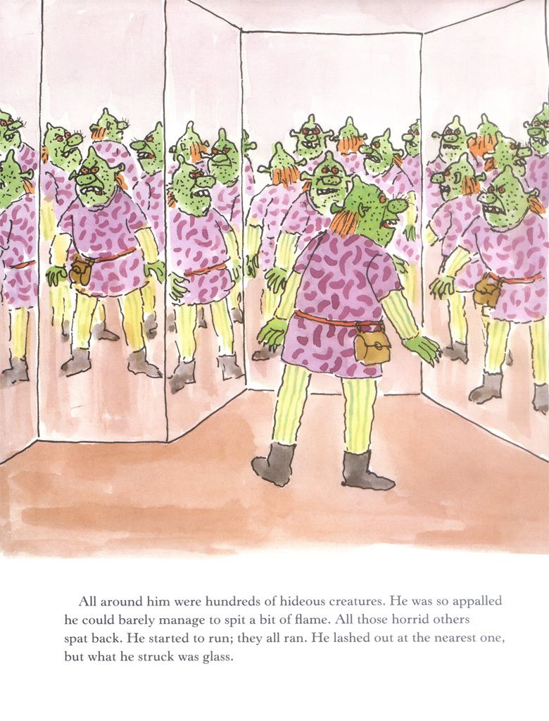 Shrek in a hall of mirrors