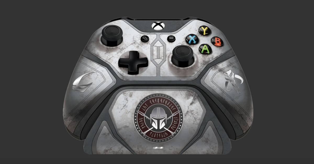 This 0 Mandalorian Xbox controller isn't even made with beskar steel