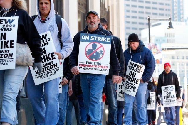 Verizon Workers On Strike