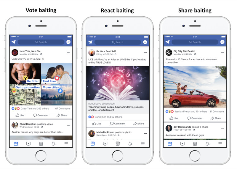 Facebook demolirá posts que pedem por curtidas e compartilhamentos