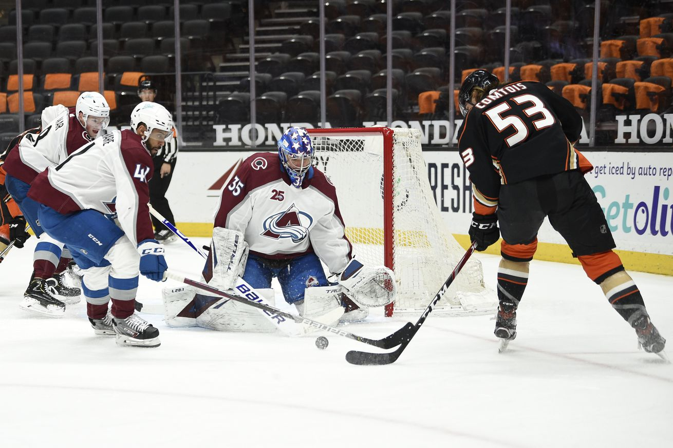 NHL: Colorado Avalanche at Anaheim Ducks