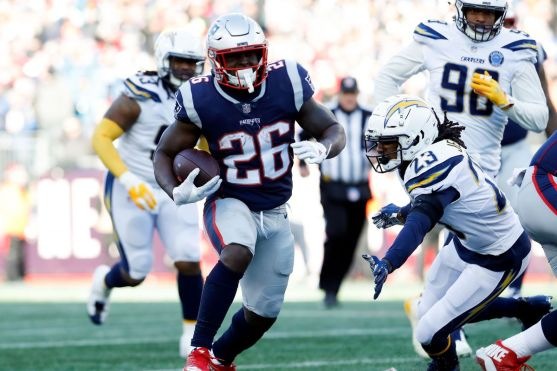 How the Patriots beat the Chargers, explained with one Sony Michel run -  SBNation.com