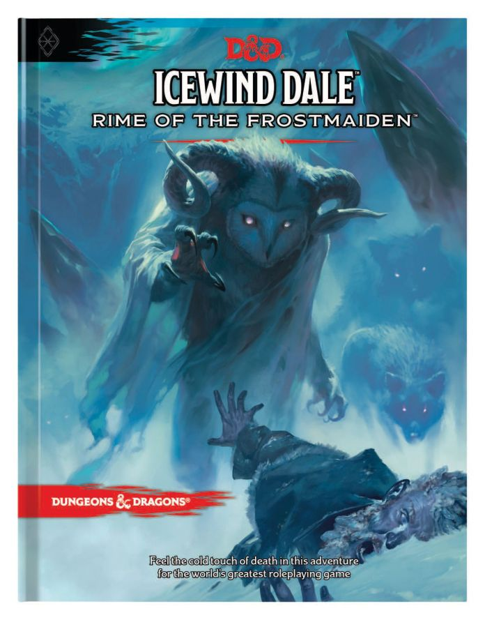 Cover art, including text, for Icewind Dale: Rime of the Frostmaiden.