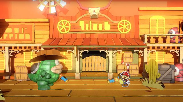 paper_mario_2.0 Paper Mario: The Origami King video explains how Mario will fight office supplies   Polygon
