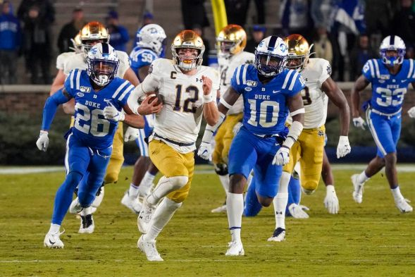 Notre Dame Fighting Irish VS Duke Blue Devils: Football Betting Lines - One  Foot Down