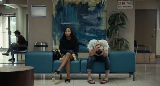 Brittany S. Hall and Will Brill in a scene from Test Pattern