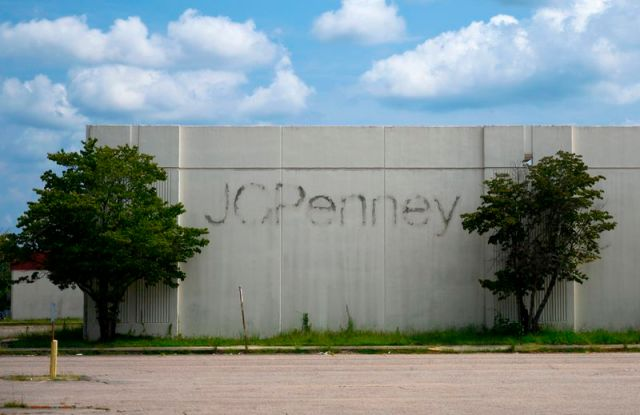 The exterior of a former JCPenney location.