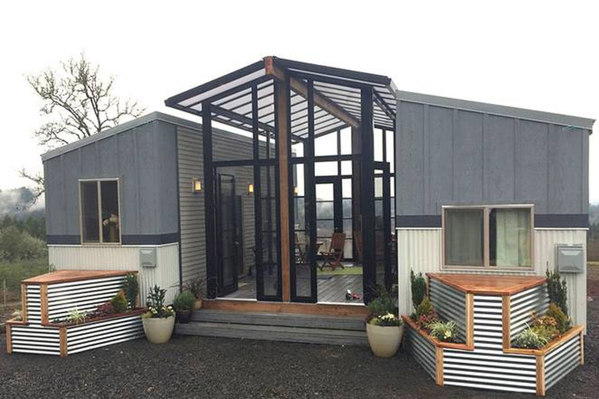 Tiny Houses And Open-air Sunroom Combine Into One Family
