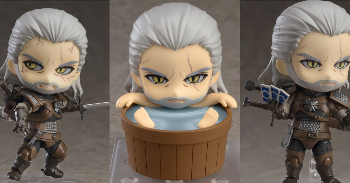 Adorable New Witcher 3 Figure Includes A Bath For Geralt Polygon