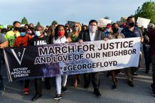 """Illinois Governor Joins Hundreds in """"March for Justice"""" Rally"""