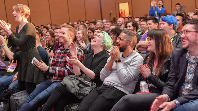 GDC crowd laughing