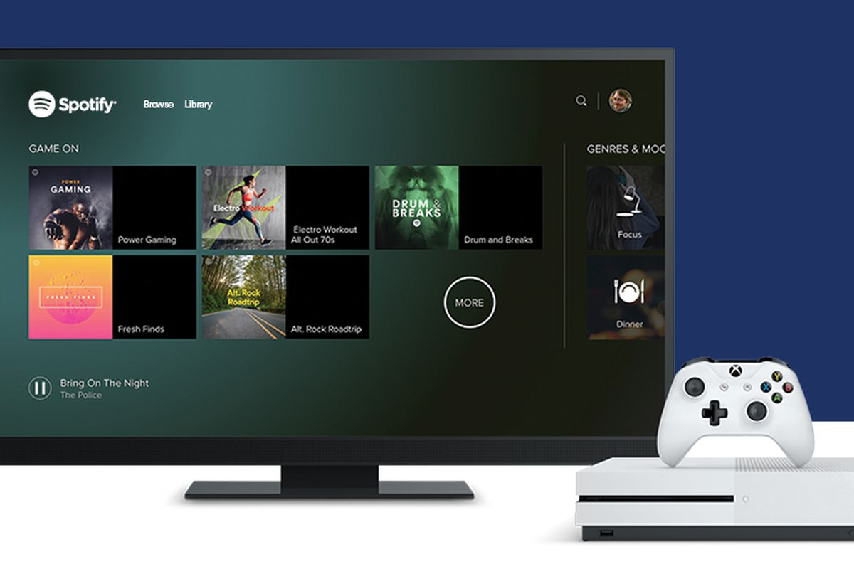 Spotify Is Now Available On The Xbox One The Verge