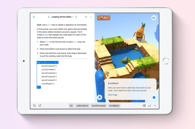 Switch_Playgrounds_iPad.0 Apple's free learn-to-code Swift Playgrounds sandbox arrives on Mac | The Verge