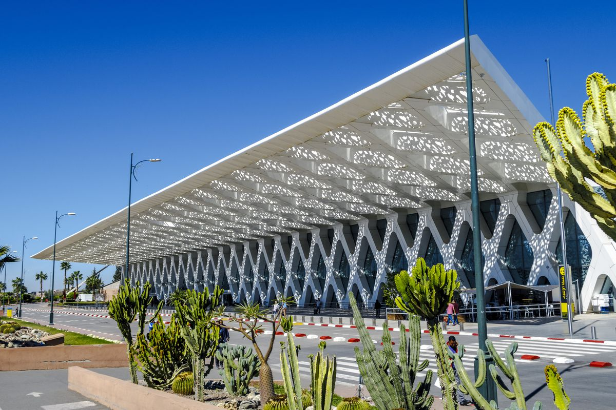 Airport architecture  The 14 most beautiful airports in the world     Exterior of the airport of Marrakech Menara in Morocco  Shutterstock