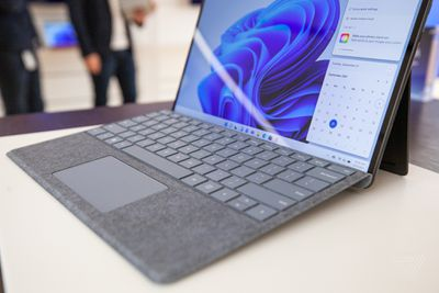 The new Surface Pro 8 keyboard is fantastic.