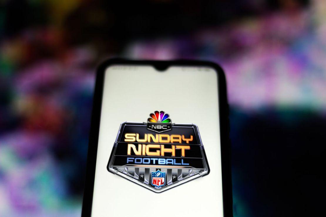 In this photo illustration the NBC Sunday Night Football...