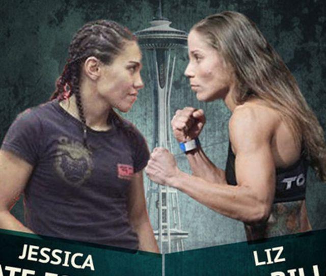 Jessica Andrade Left And Liz Carmouche
