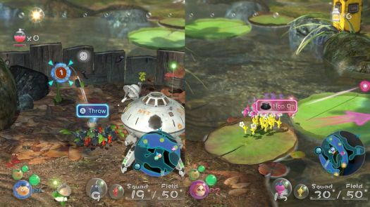 Co-op play in Pikmin 3 Deluxe