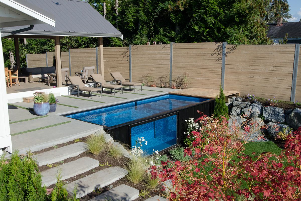 Best Kitchen Gallery: Shipping Container Pool Sets Up In Minutes Curbed of Shipping Container Pool on rachelxblog.com