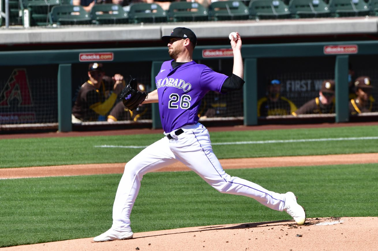 MLB: San Diego Padres at Colorado Rockies