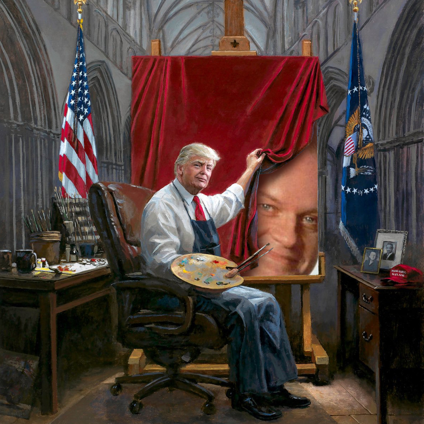 This Painting Of Trump Has Become The Ultimate Meme Fodder Funny Or Die