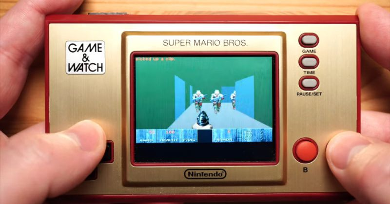 Nintendo's Game & Watch can run Doom, barely