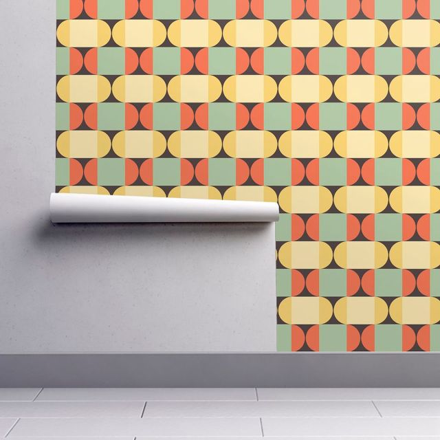 Wallpaper with geometric shapes