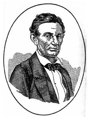 Le portrait de Milton Bradley d'un Abraham Lincoln imberbe.