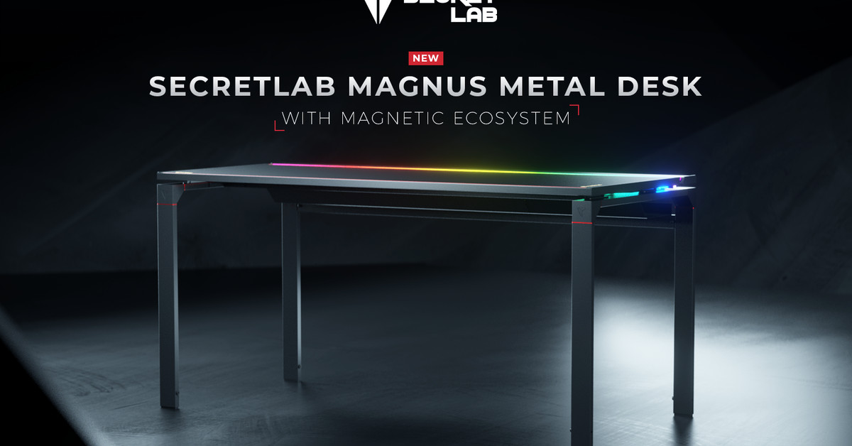 Secretlab's first PC desk keeps your cables under control with the help of magnets