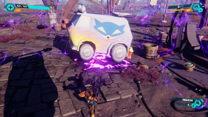 The Sly Cooper van in Ratchet & Clank: Rift Apart