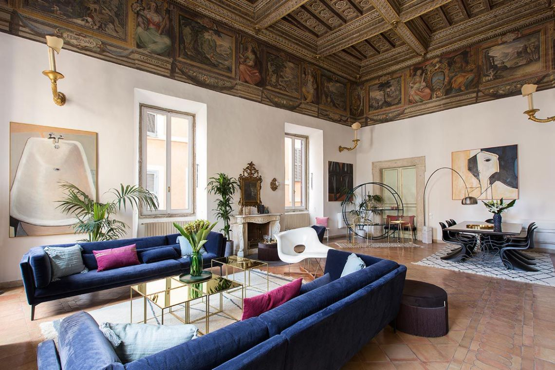 16th-century Roman palazzo combines frescoes and modern ...